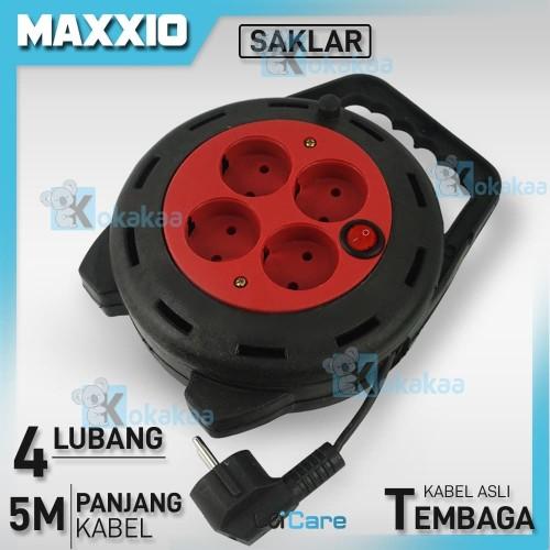 Foto Produk Maxxio BOX Kabel ROLL 5 METER Stop Kontak 4 Lubang with SAKLAR switch dari Kokakaa