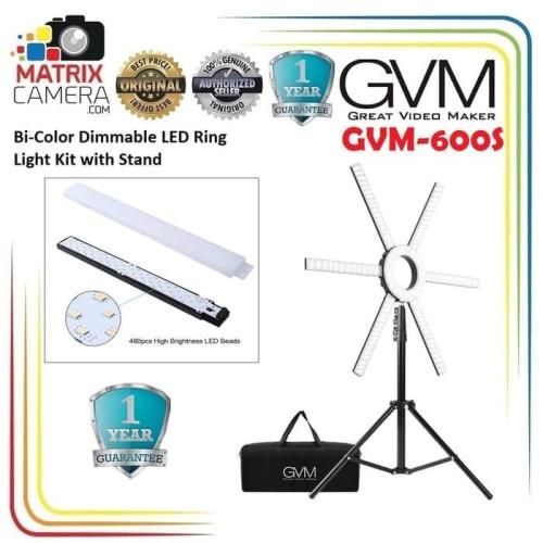 Foto Produk GVM 600S GVM-600S Bi-Color Dimmable LED Ring Light Ringlight Ringlite dari MatrixCamera