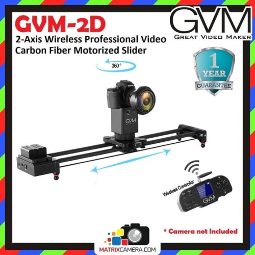 Foto Produk GVM GVM-2D 2-Axis Wireless Video Carbon Fiber Motorized Camera Slider dari MatrixCamera
