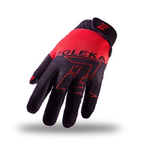 Foto Produk ZOLEKA Aksa Sarung Tangan Motor Full Finger Unisex - Black Red - M dari ZOLEKA