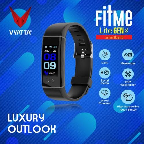 Foto Produk VYATTA FitMe Lite III Smartband-Colour Display, Sport mode, Waterproof - Hitam dari VYATTA INDONESIA