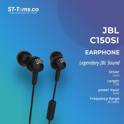 Foto Produk JBL C150SI In Ear Headphones with Mic JBL C100SI New Model GARANSI IMS - Hitam dari ST-Toms.co