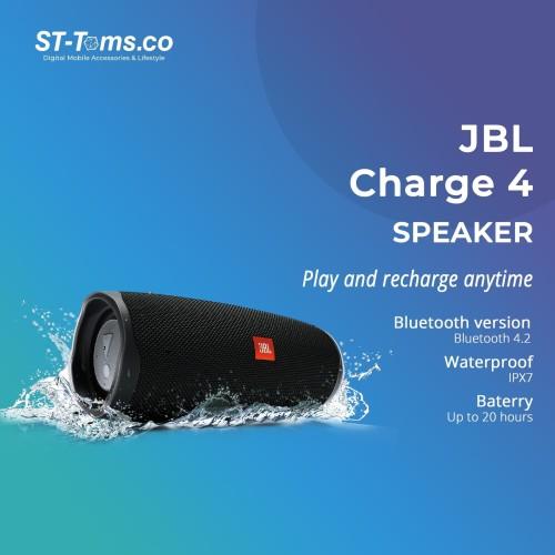 Foto Produk JBL Charge 4 Portable Waterproof Wireless Bluetooth Speaker - Black dari ST-Toms.co