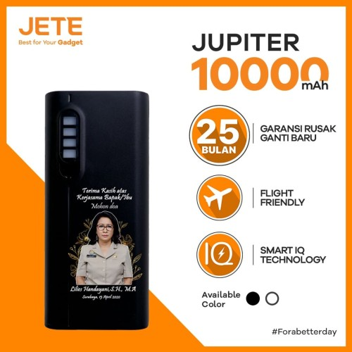 Foto Produk POWERBANK CUSTOM FOTO DESAIN BEBAS JETE JUPITER 10000 mAh dari JETE Official Surabaya