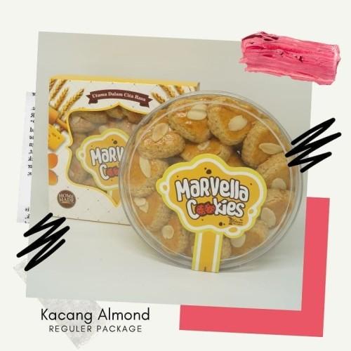 Foto Produk Kue Kering Khas Bandung/Marvella Cookies|Reguler Kacang Almond 500 gr dari Kreasi Peci