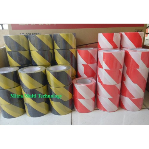 "Foto Produk Barricade Tape/Police Line 3"" x 300 M - kuning hitam dari mitra multi technology"