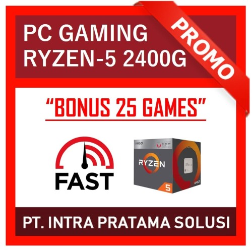 Foto Produk PC Gaming Bronze - AMD Ryzen 2400G + RAM 8GB DDR4 + HDD 500GB dari PT. Intra Pratama Solusi