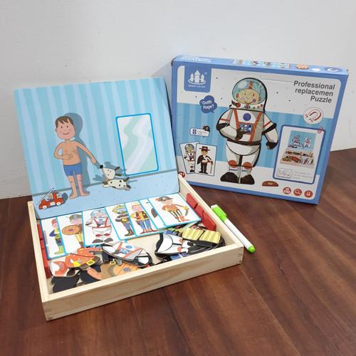 Foto Produk MB170 Mainan Anak Puzzle BOARD MAGNETIC BOX Mencocokan Karakter - PROFESI dari Mmtoys Indonesia