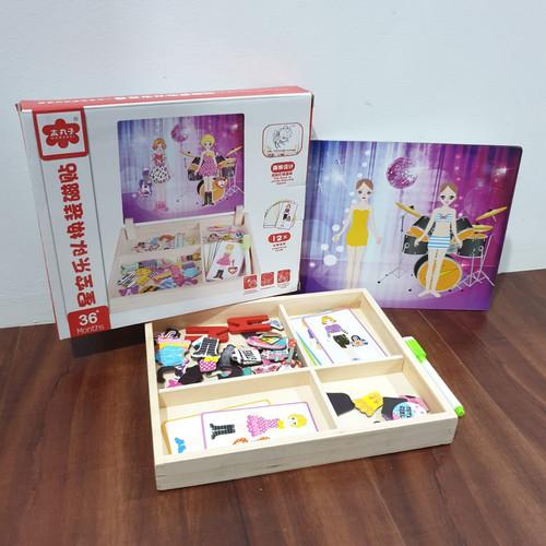 Foto Produk MB170 Mainan Anak Puzzle BOARD MAGNETIC BOX Mencocokan Karakter - GIRL MUSIC dari Mmtoys Indonesia