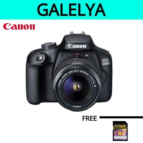 Foto Produk Kamera canon eos 3000d kit 18-55mm canon 3000d kit dari galelya