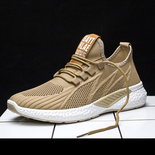 Foto Produk Techdoo Sepatu Pria Sneakers Import Sepatu Casual Korea MR115 - Cokelat, 39 dari Techdoo