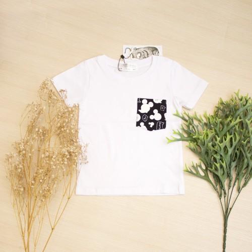 Foto Produk Kaos Anak Laki-Laki White Mickey Pocket Tee Lacey Atelier - S 1-2 tahun dari LACEY atelier
