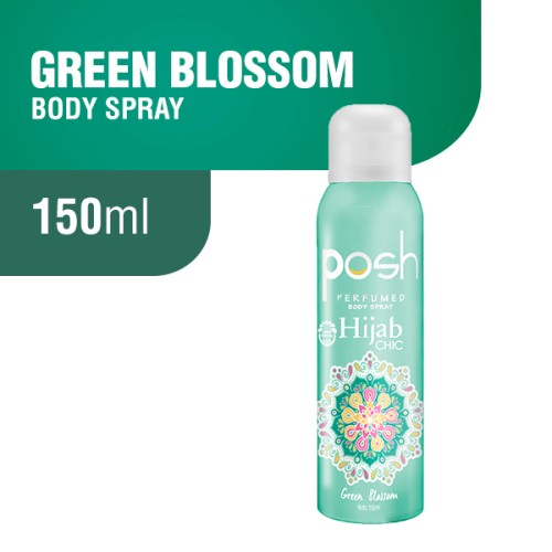 Foto Produk Posh Hijab Body Spray Green Blossom 150 ml dari Wings Official Store
