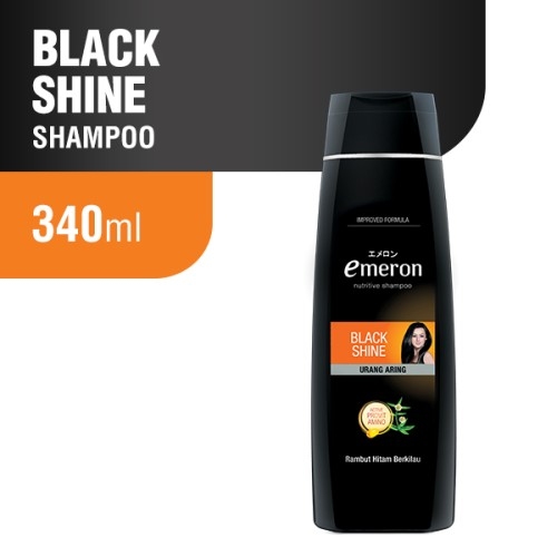 Foto Produk Emeron Shampoo Black & Shine Bottle 340 ml dari Wings Official Store