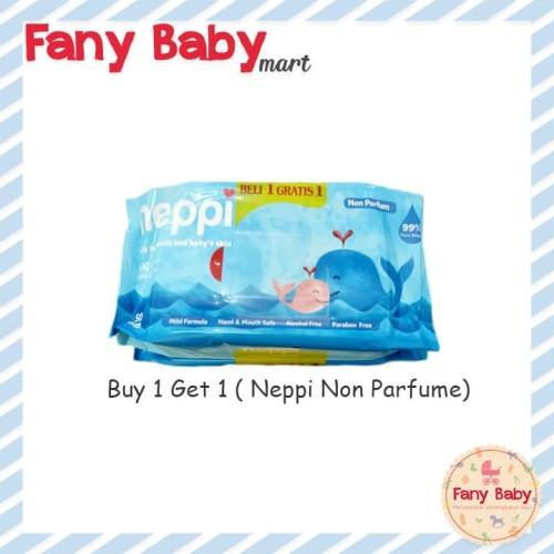 Foto Produk NEPPI TISSUE BASAH (WIPES) BUY 1 GET 1 / NON PARFUME dari Fany Baby Mart