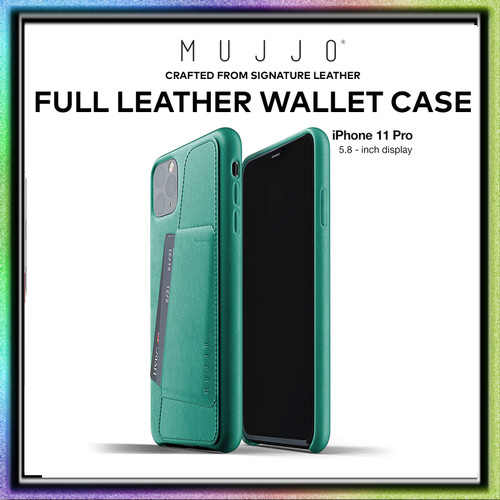 Foto Produk Case iPhone 11ProMax / iPhone 11 Pro / iPhone 11 MUJJO Leather Wallet - Alpine Green, iPhone11ProMax dari Spigen Indonesia