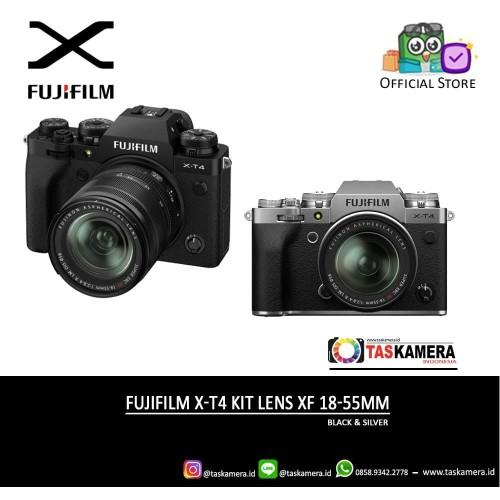 Foto Produk Fujifilm X-T4 Kit XF 18-55mm -- Kamera Mirrorless Fujifilm XT4 dari taskamera-id