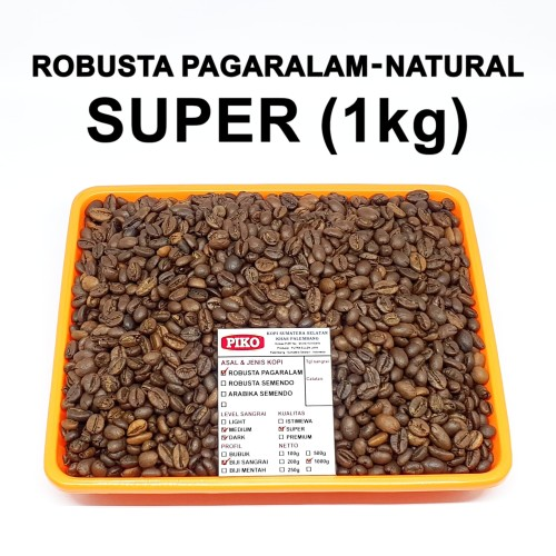 Foto Produk Kopi Biji Sangrai Robusta Pagaralam ( 1kg ) dari KOPI PIKO