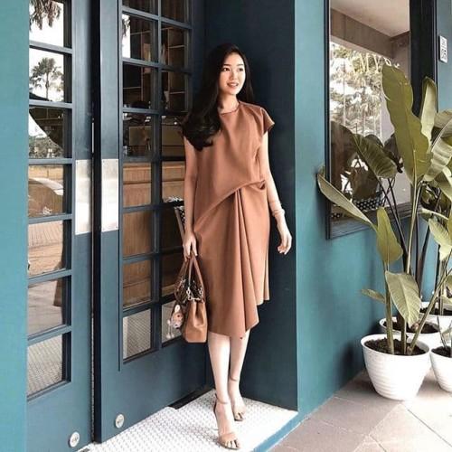 Foto Produk Velvet Dress Mocha Latte dari rhei_collection