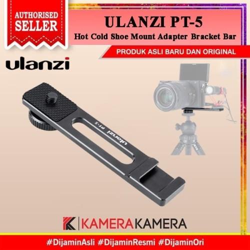 Foto Produk ULANZI PT-5 PT5 Hot Cold Shoe Mount Adapter Bracket Bar for Mic LED dari kamerakamera