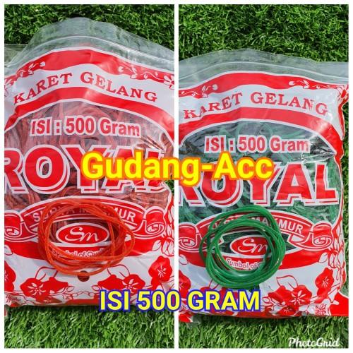 Foto Produk GROSIR KARET GELANG ROYAL HIJAU @500GR - Royal Merah dari ACC DEPOK