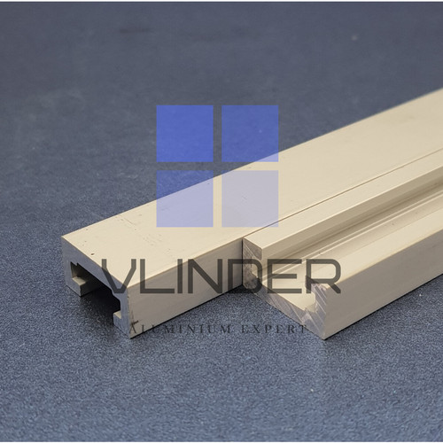 Foto Produk Aluminium Mini T-Track 19 mm for Miter, Router and Table Saw Jig - Silver, 10 cm dari Vlinder Aluminium