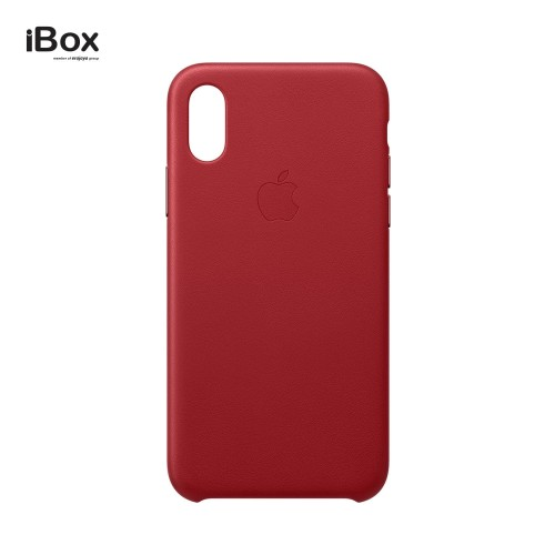 Foto Produk Apple iPhone XS Leather Case - (PRODUCT)RED dari iBox Official Store