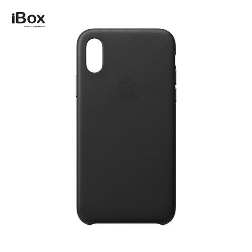 Foto Produk Apple iPhone XS Leather Case — Black dari iBox Official Store