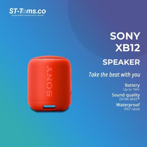 Foto Produk Sony SRS- XB12 / XB 12 Extra Bass Portable Bluetooth Speaker - Red dari ST-Toms.co