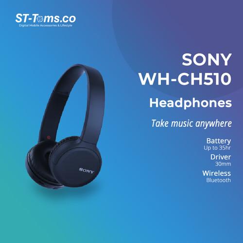 Foto Produk Sony WH-CH510 / WH CH510 / CH 510 Wireless Headphones - Biru dari ST-Toms.co