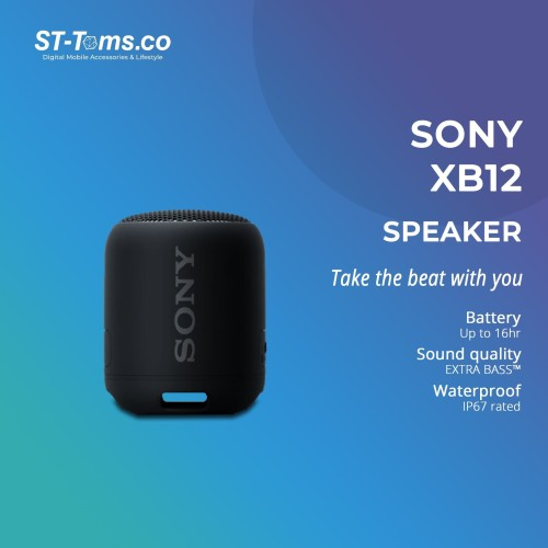 Foto Produk Sony SRS- XB12 / XB 12 Extra Bass Portable Bluetooth Speaker - Black dari ST-Toms.co