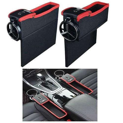 Foto Produk RAK KANTONG SAMPING JOK MOBIL CAR SIDE SEAT POCKET ORGANIZER - CREAM dari Vivania