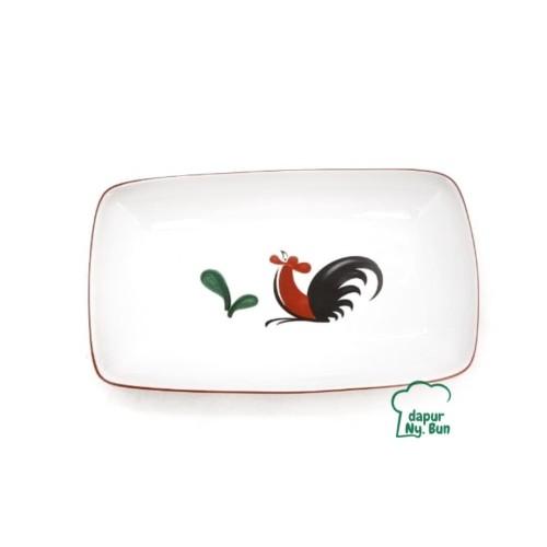 Foto Produk Piring Saji Segi Kecil Ayam Jago Seri 2 Ukuran 7Inch dari Dapur Ny.Bun
