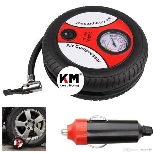 Foto Produk Compressor Angin Mini Portable 12V Pompa Udara Ban Mobil Elektrik Air dari Keep Moving