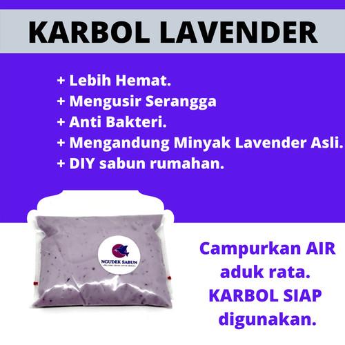 Foto Produk Karbol Lavender 1L - BIANG Karbol Lavender 1 Liter - Refill - DIY dari mix & deal