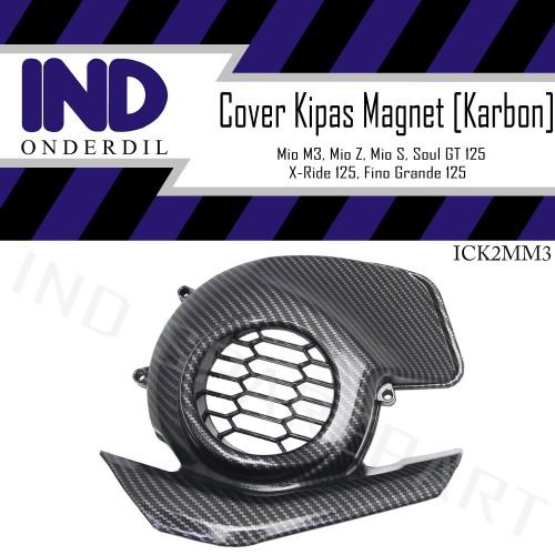 Foto Produk Tutup-Cover Kipas Magnet-Mesin Karbon-Carbon Mio M3-Z-S/X-Ride 125 New dari IND Onderdil