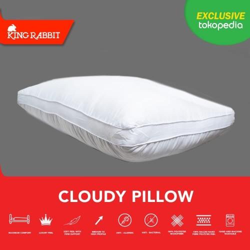 Foto Produk King Rabbit Premium Nanofiber Cloudy Pillow 50X70 cm ( Bantal Kepala ) dari King Rabbit Official
