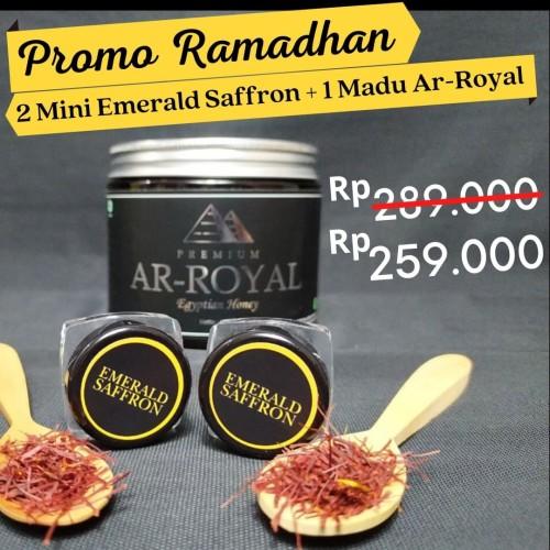 Foto Produk Paket Ekonomis : Madu Ar Royal 500 gr + Saffron 0,1 gr - Ada Bonus dari madu-phuceng.id
