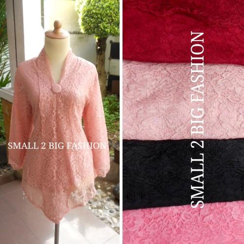 Foto Produk blus atasan kebaya big brokat brukat pink salem merah hitam salmon dari Small 2 Big Fashion