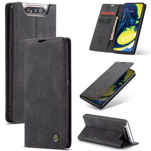 Foto Produk Samsung galaxy A80 Flip Case Caseme Cover Leather Wallet Dompet - Coklat Tua dari Vinvend ACC