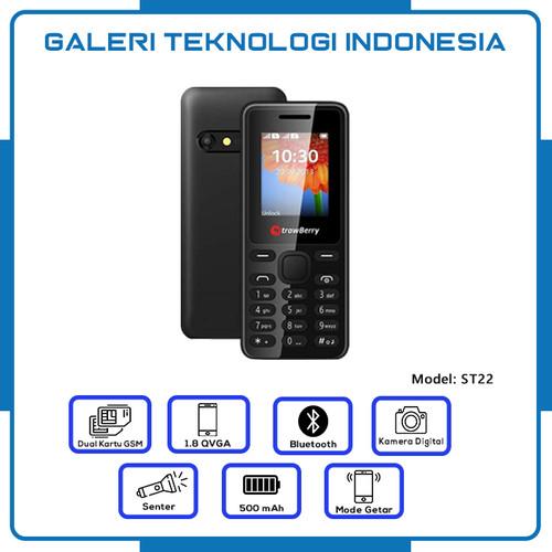 Foto Produk Strawberry ST22   Handphone Candybar HP Murah Kamera Bluetooth 16GB dari Galtekindo