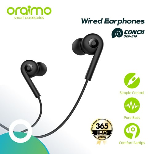 Foto Produk Oraimo Conch Strong Bass Earphone OEP-E10 - White - Putih dari Oraimo_indonesia