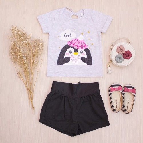 Foto Produk Kaos Anak Perempuan Penguin Tee Lacey Atelier - Atasan XS dari LACEY atelier