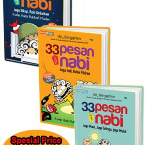 Foto Produk Zahi Paket 33 Pesan Nabi Vol 1 3 Buku Islam Vbi Djenggoten dari DV BookStore