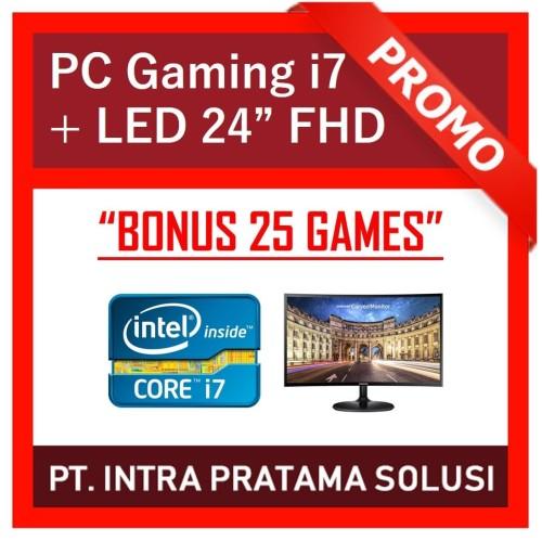 "Foto Produk PC Design / Gaming - i7-3770 + RAM 16GB + GTx1050Ti 4GB + LED 22"" FHD dari PT. Intra Pratama Solusi"