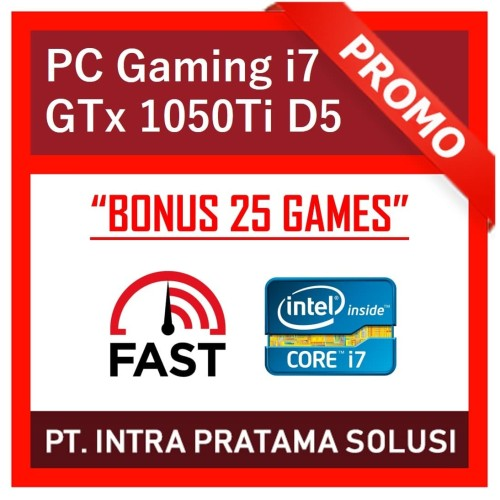 Foto Produk PC Rakitan Core i7 + Ram 16GB + HDD 1TB + Nvidia GTX 1050Ti 4GB dari PT. Intra Pratama Solusi