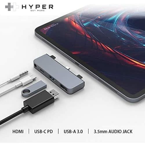 "Foto Produk HyperDrive USB C Hub Adapter for iPad Pro 2020 2019 2018 11""/ 12.9"" dari needs365onlineshop"