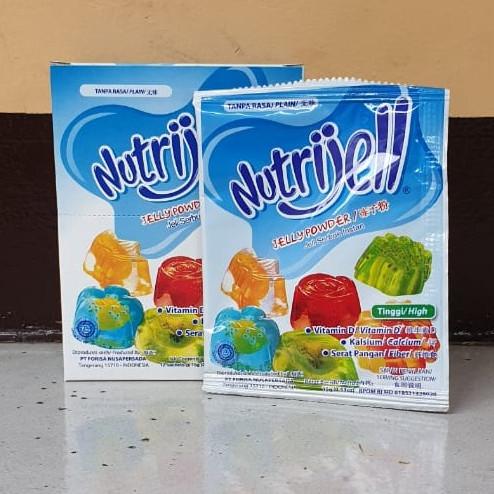 Foto Produk [1box isi 12pcs] NUTRIJELL Plain 15 gram / 15gr dari Aimee Bag & Plush Toys