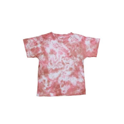 Foto Produk Kids Tie Dye T-Shirt Marble Red - S dari Flo's Tie Dye Shop