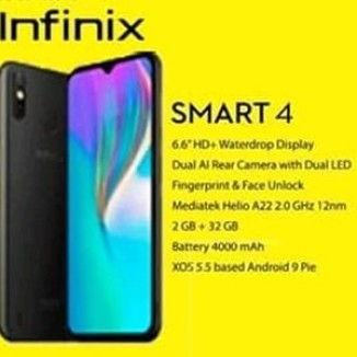 Foto Produk Infinix Smart 4 Smartphone Ram 2GB Rom 32 GB - Resmi - Harga Grosir dari 036 kodokstore